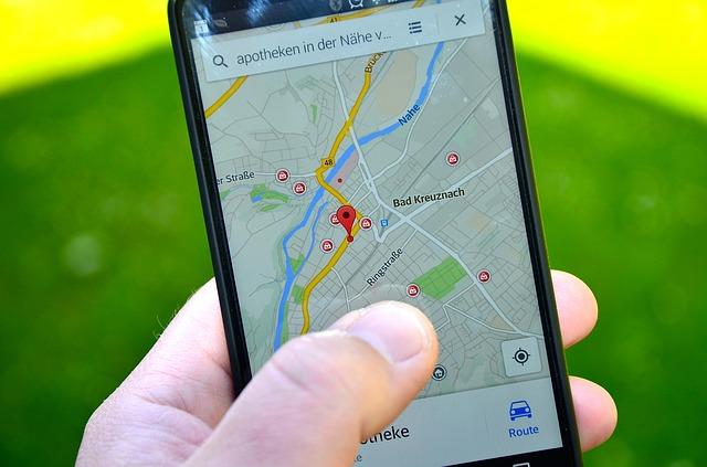 chytrý telefon a GPS